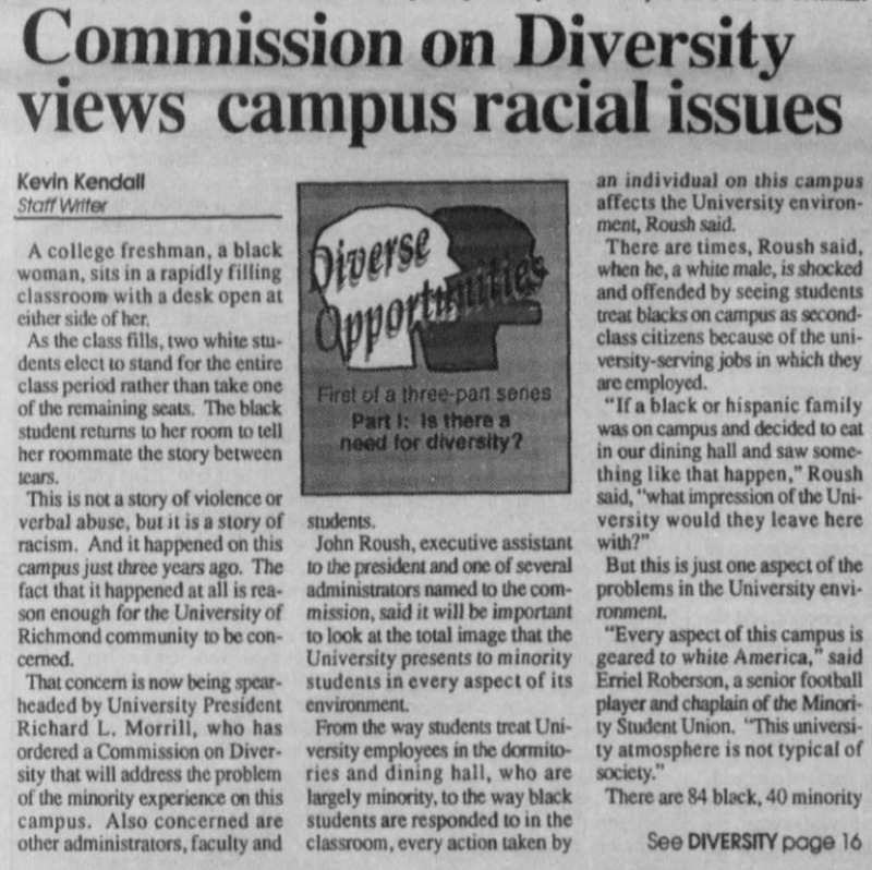 "Article ""Commission on diversity views campus racial issues"""