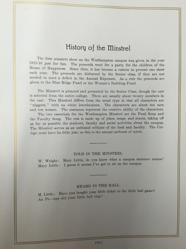 "The Web 1924 ""History of the Minstrel"""