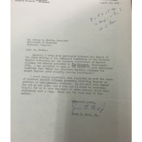 Letter from James E. Wood to George Modlin and Reply