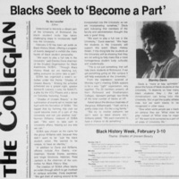 "Article ""Blacks Seek to 'Become a Part'"""