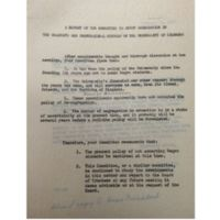 A Report of the Committee to Study Segregation in the Graduate and Professional Schools of the University of Richmond