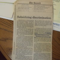 "Article ""Subsidizing Discrimination"""