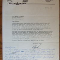 Letter from George G. Iggers to Ryland O. Reamy and Replies