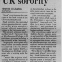 "Article ""Black Women Seeking Own UR Sorority"""
